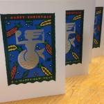 Christmas card Foiled and Litho printed using Fedrigoni paper
